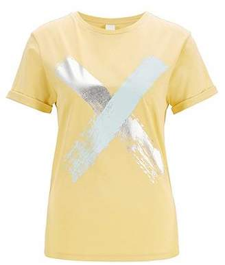 e556a75d4 HUGO BOSS Relaxed-fit T-shirt in cotton with a cross print