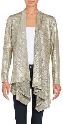 Calvin Klein Metallic Flyaway Cardigan $89.50 thestylecure.com
