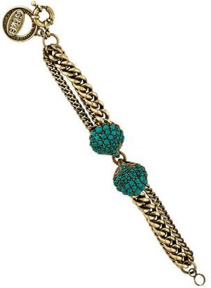 Giles & Brother Turquoise Double Seashell Link Bracelet $125 thestylecure.com