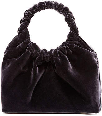 Double Circle Small Velvet Handbag