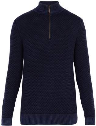 Iris von Arnim Kolumbus half-zip stonewashed cashmere sweater
