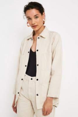 Urban Renewal Vintage Ecru Workwear Jacket - beige S at Urban Outfitters