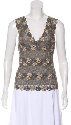 Josie Natori Sleeveless Lace Top