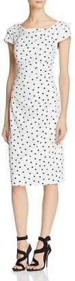 Adrianna Papell Short-Sleeve Polka Dot Dress $120 thestylecure.com