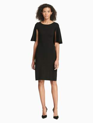 Calvin Klein sweater cape dress