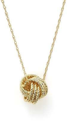 """Bloomingdale's 14K Yellow Gold Love Knot Necklace, 18"""" - 100% Exclusive"""