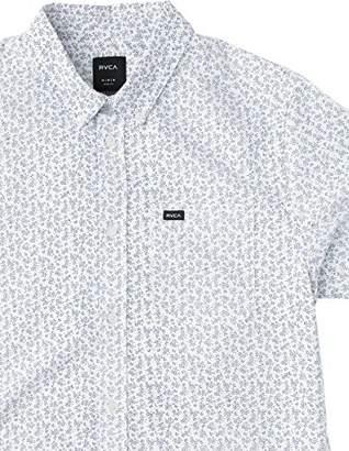 RVCA Men's Thatll Do Floral Short Sleeve Woven Shirt