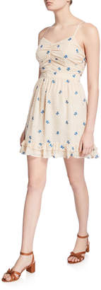 Endless Rose Floral Embroidered Chiffon Mini Dress