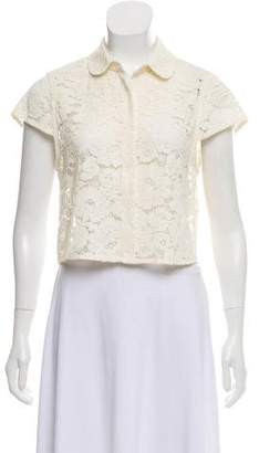 Alice + Olivia Lace Button-Up Top w/ Tags
