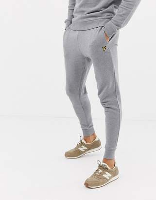 Lyle & Scott skinny sweat jogger in gray