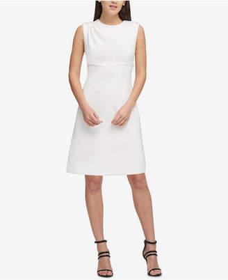 DKNY Button-Shoulder Scuba Dress, Created for Macy's