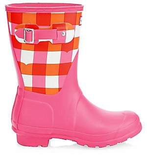 Hunter Women's Original Short Gingham Rain Boots