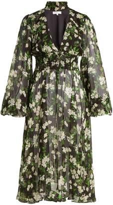 Caroline Constas Syris floral-print silk chiffon dress