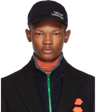 Off-White Black Logo Snap Cap
