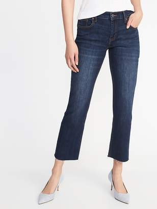 Old Navy Raw-Edge Cropped Flare Ankle Jeans for Women