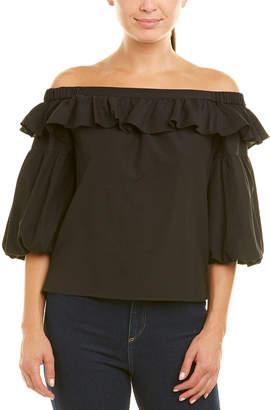 0ba7e1635a6b1d BCBGMAXAZRIA Black Off Shoulder Women's Tops - ShopStyle