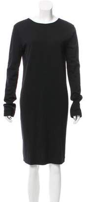 Calvin Klein Collection Pleated Wool Dress