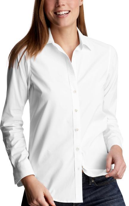 White stretch fitted shirt