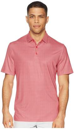 Callaway All Over Gingham Printed Polo Men's Clothing
