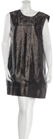 Saint LaurentYves Saint Laurent Silk Metallic Dress