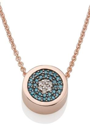 Monica Vinader Evil Eye Diamond Pendant Necklace