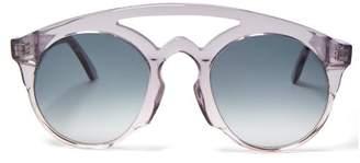 Marques Almeida Marques'almeida - Aviator Acetate Sunglasses - Womens - Clear
