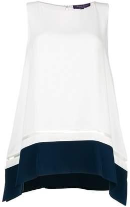 Ralph Lauren sleeveless handkerchief blouse