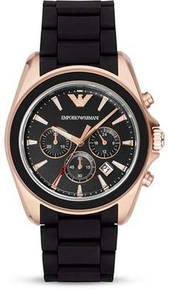 Emporio Armani Rubber 3-Link Bracelet Watch, 44mm