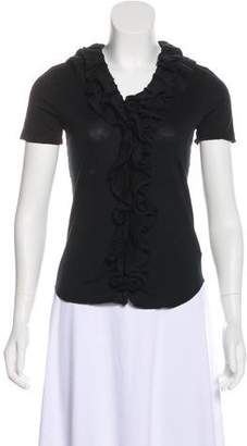 Ralph Lauren Ruffle-Accented Knit Top