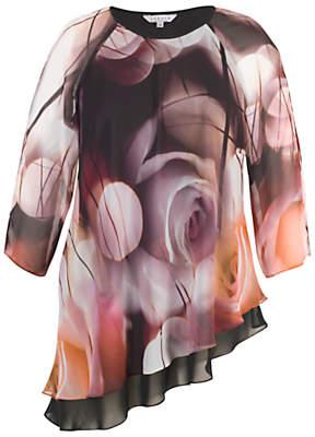 Chesca Misty Rose Tunic Top, Aubergine