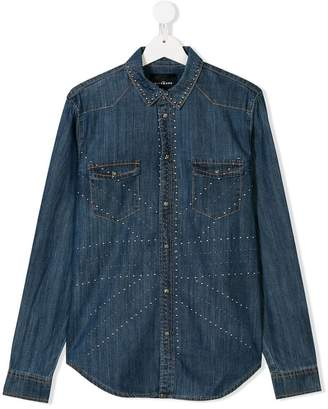 John Richmond Kids TEEN studded denim shirt