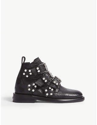 Zadig & Voltaire Laureen Bubble Spike leather ankle boots