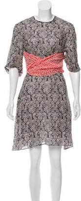 Rosie Assoulin Printed Mini Dress