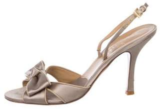 Valentino Satin Slingback Sandals Metallic Satin Slingback Sandals