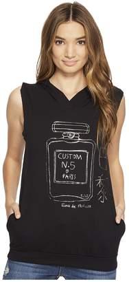 Custom Ketchup Perfume Gunmetal Foil on Sleeveless Hoodie Women's Clothing
