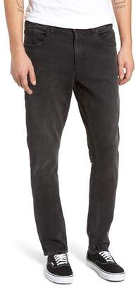 Treasure & Bond Slim Fit Jeans (Black Faded Crinkle Wash)