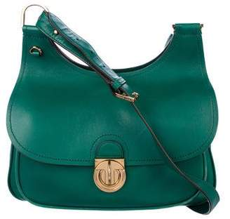 Tory Burch Leather Saddle Bag