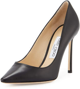 Jimmy Choo Romy Leather 100mm Pump $595 thestylecure.com