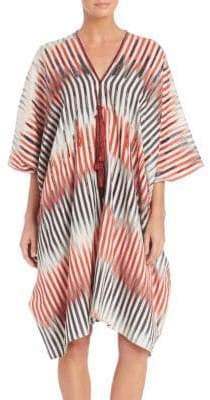 Natori Beachy Cotton And Silk Caftan