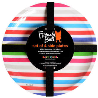 French Bull Set Of 4 Poolside Stripe 8In Side Plates