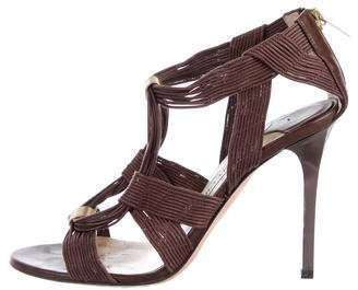 Jimmy Choo Woven Multistrap Sandals