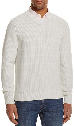 The Men's Store at Bloomingdale's Chunky Stitch Striped Cotton Sweater - 100% Exclusive $98 thestylecure.com