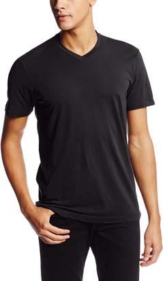 Velvet BY GRAHAM & SPENCER Men's Samsen Short Sleeve V Neck T Shirt