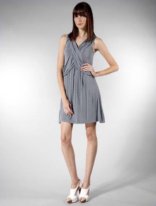 Hem Grecian Dress in Grey Gulf