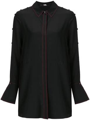 Karl Lagerfeld button detailed tunic shirt