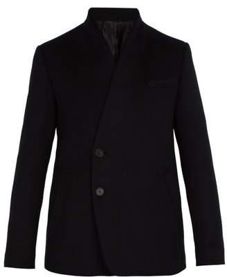 Wooyoungmi Collarless Wool Blend Blazer - Mens - Black