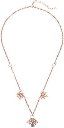 Amadeus - Rose Gold Chain Necklace with Mystic Quartz & Pearls