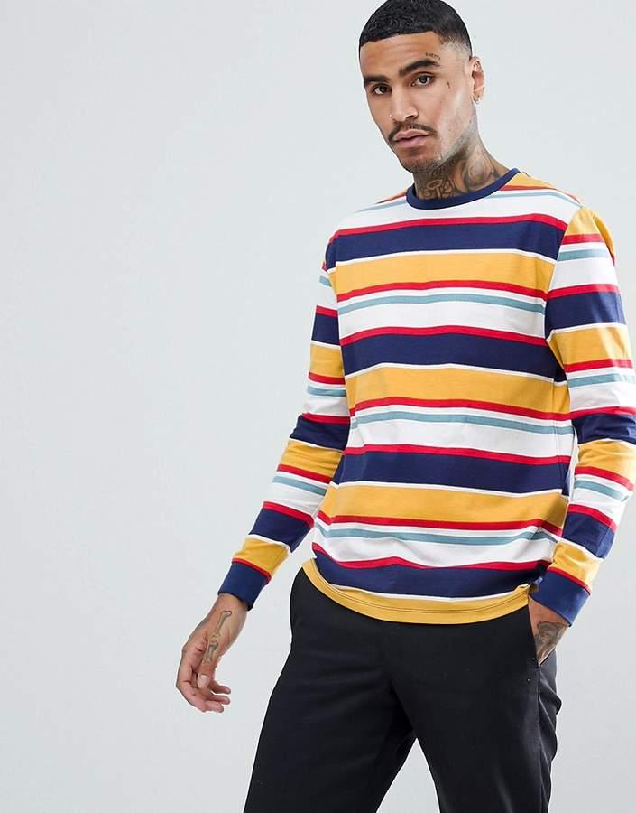 DESIGN – Lässiges, langärmliges Shirt mit Retrostreifen