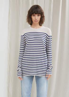 Acne Studios Long Sleeve Linen Stripe Tee