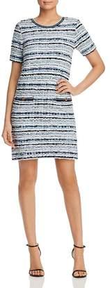 Tory Burch Short-Sleeve Tweed Shift Dress